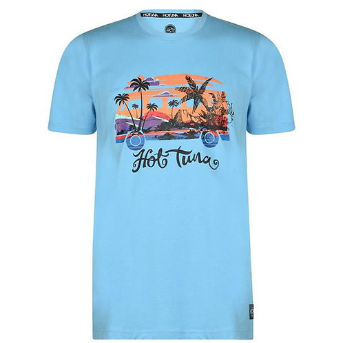 Hot Tuna Island Surf Light Blue T Shirt