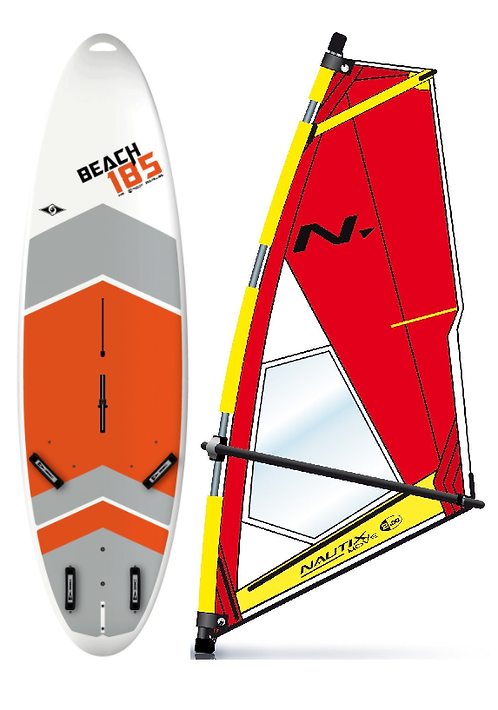 Complete School Windsurf Bic Board 185L & Nautix Dacron Rig