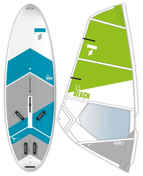 Complete School Windsurf Tahe Board 225L & Tahe Beach Dacron