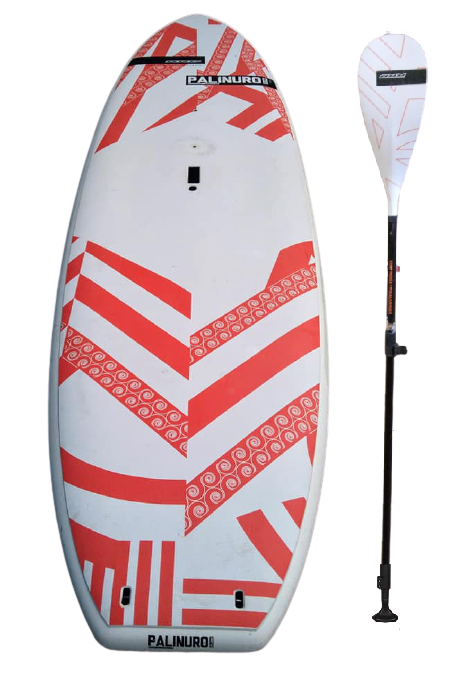 Used RRD Palinuro Wind-SUP Softskin 10'4'' 220 Lt. 314cm x 87.5cm +paddle +fin