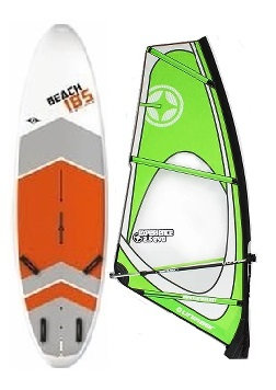 Complete School Windsurf Bic Board 185L & Experience Dacron Rig