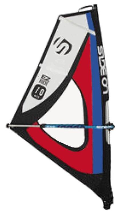 Side On Windsurf Rig Dacron/Maylar Rig 1.0 m2 (Sail, Mast, Boom, Cup, Uphaul)
