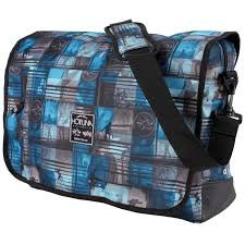 Hot Tuna Messenger Bag Blue Shoulder Flight Bag Surf Print 42cm x 30cm x 8cm