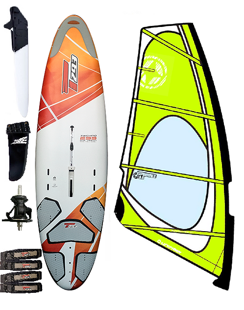 Complete T293 Junior Edition Windsurf Bic Board 205L & 3.5m2 Dacron/Maylar Rig