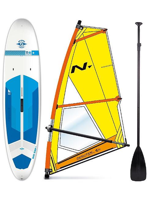 Complete School SUP & Windsurf Set Bic Board 215L & Nautix Dacron Rig