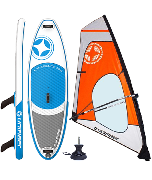 Unifiber Experience iWindsurf Complete Windsurf 275L Inflatable / Compact Rig
