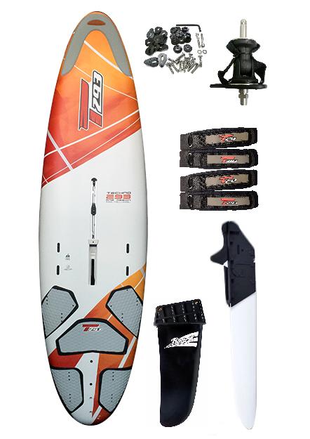 T293 One Design 205L Complete Windsurf Board - Heavy Rider Setup
