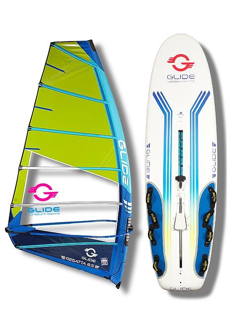 Complete Glide Racing Windsurf Set 8.5m2 Rig 299cm x 85cm 276L Board