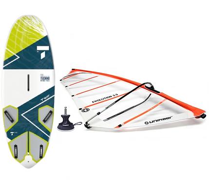 Complete Windsurf Tahe Techno 130L & Unifiber Evolution Rig