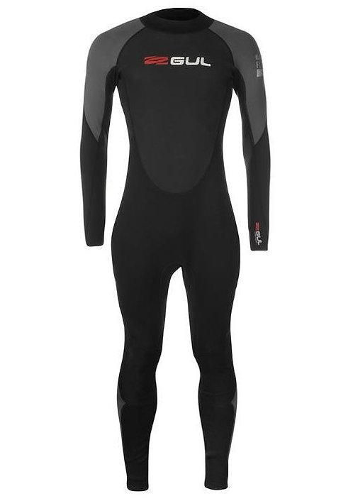 Gul Long Wetsuit Contour II Full Man 3/2 mm Back Zip Black/Grey