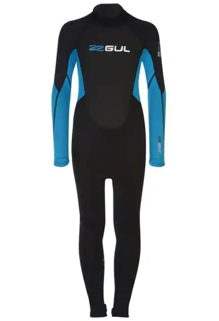 Gul Wetsuit Contour II Full Junior 3/2 mm Back Zip Blue/Black