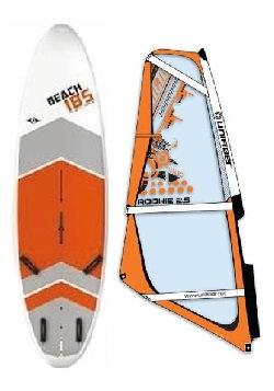 Complete School Windsurf Bic Board 185L & Rookie Monofilm Rig