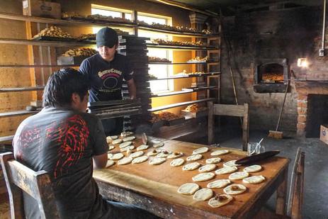 MAKING BREAD, QUITO, ECUADOR
