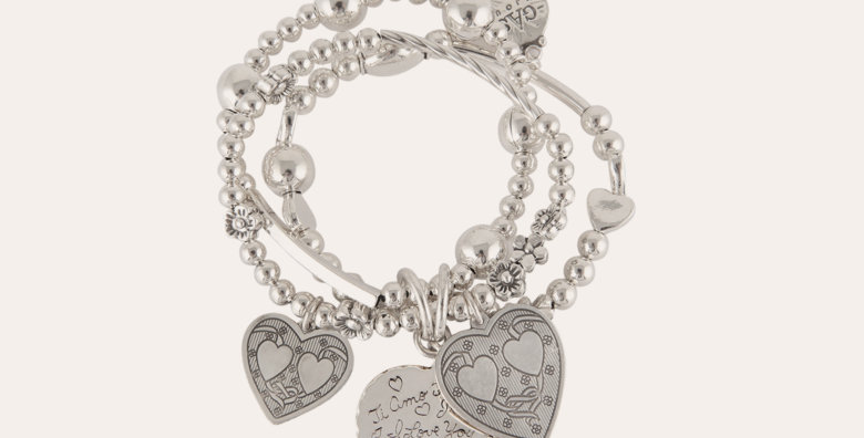 Bracelet Merlin love argent