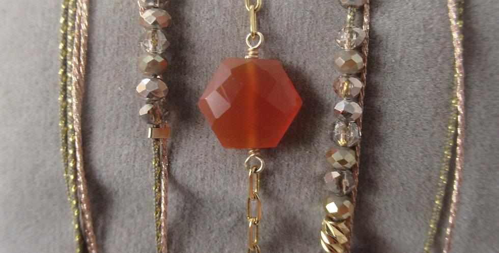 Bracelet Hexagone Coraline