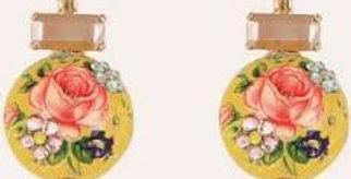 Boucles d'oreilles Boules chinoises or jaune