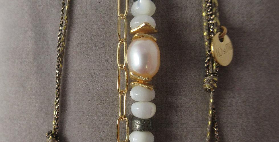 Bracelet Tahiti perle rose