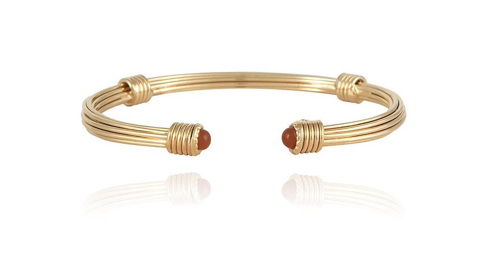 Bracelet Ariane cabochons or