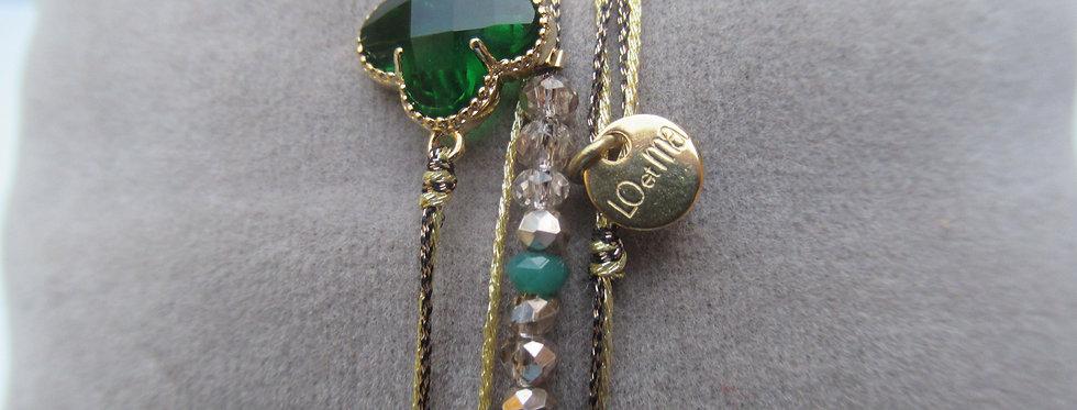 Bracelet Clover Emeraude