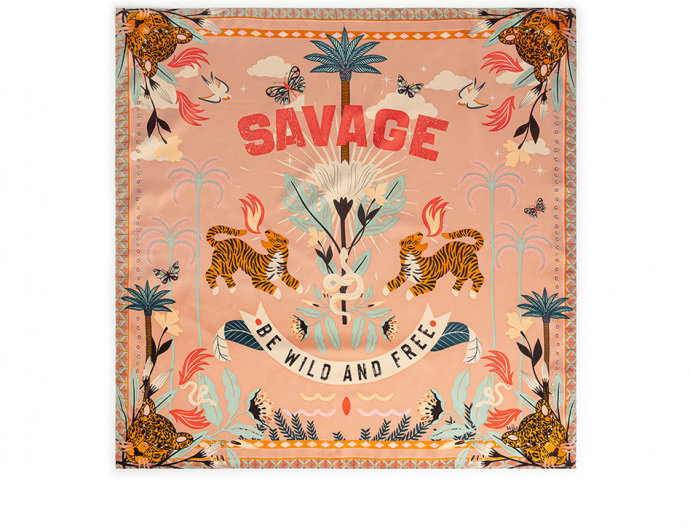 Mini Foulard Savage Pink