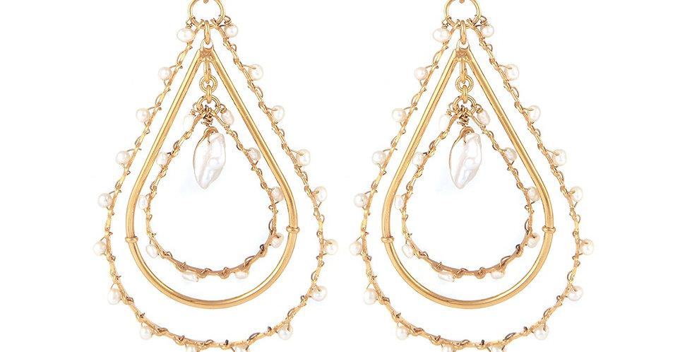 Boucles d'oreilles Orphée petit modèle or