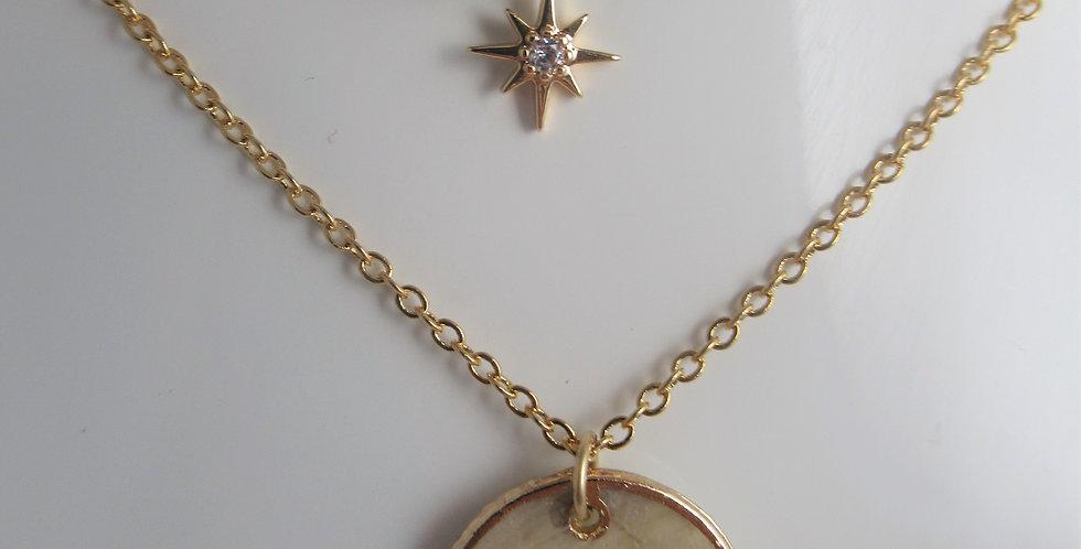 Collier médaille Stella
