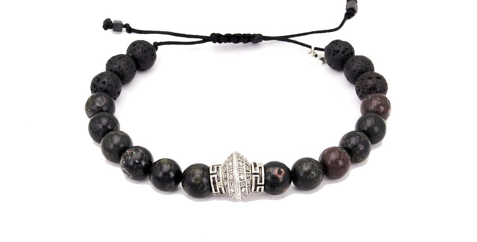 Bracelet Homme New Best one jaspe prune Lo et ma