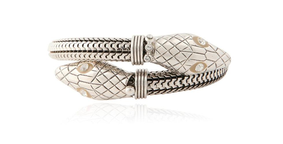 bracelet cobra argent