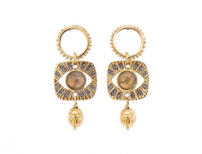 Boucles d'oreilles Alexandrie Gold