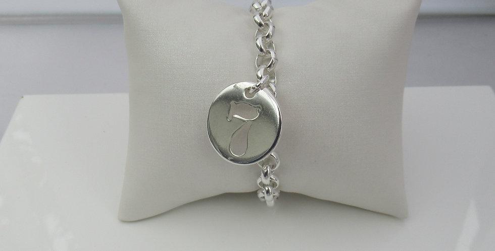 Bracelet maille chiffre 7