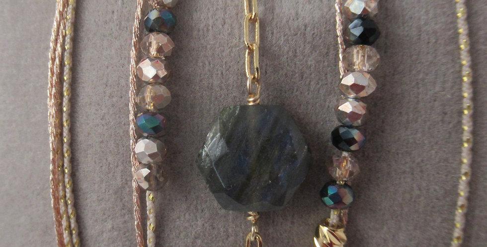 Bracelet Hexagone Labradorite