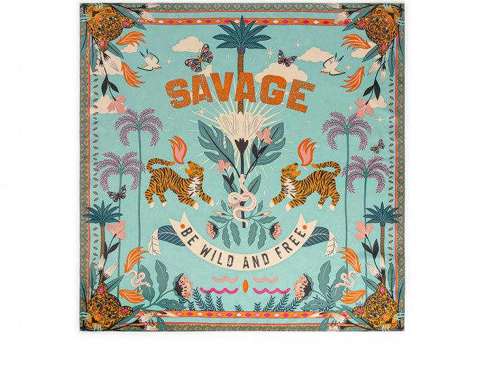 Mini Foulard Savage turquoise