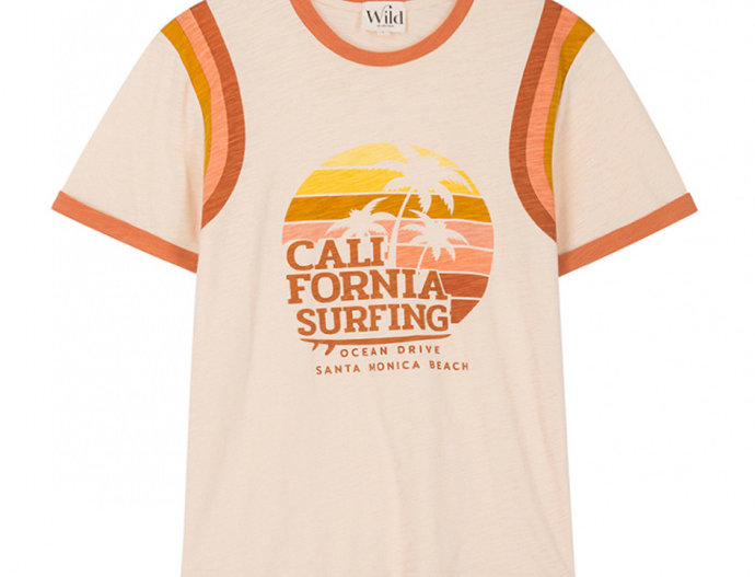 T-shirt Surfing Cream