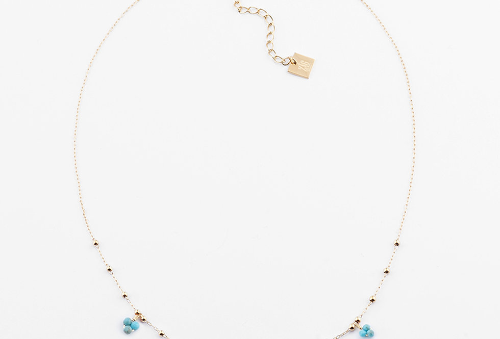 Collier Gaia turquoise