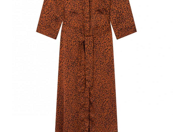 Robe Wild longue wood Rust