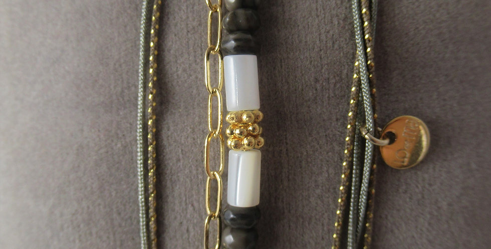 Bracelet Balinais Labradorite