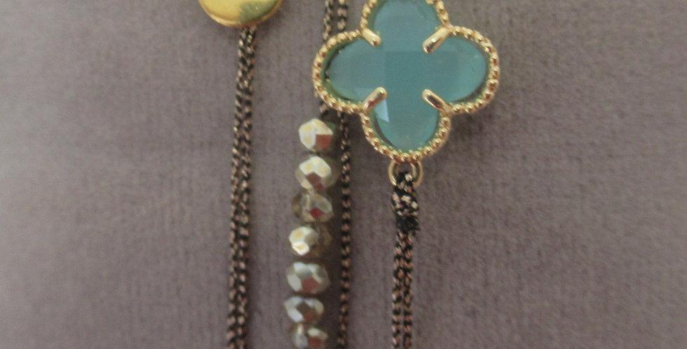Bracelet Clover Aqua