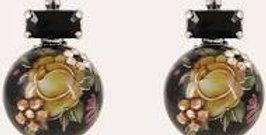 Boucles d'oreilles Boules chinoises argent noires