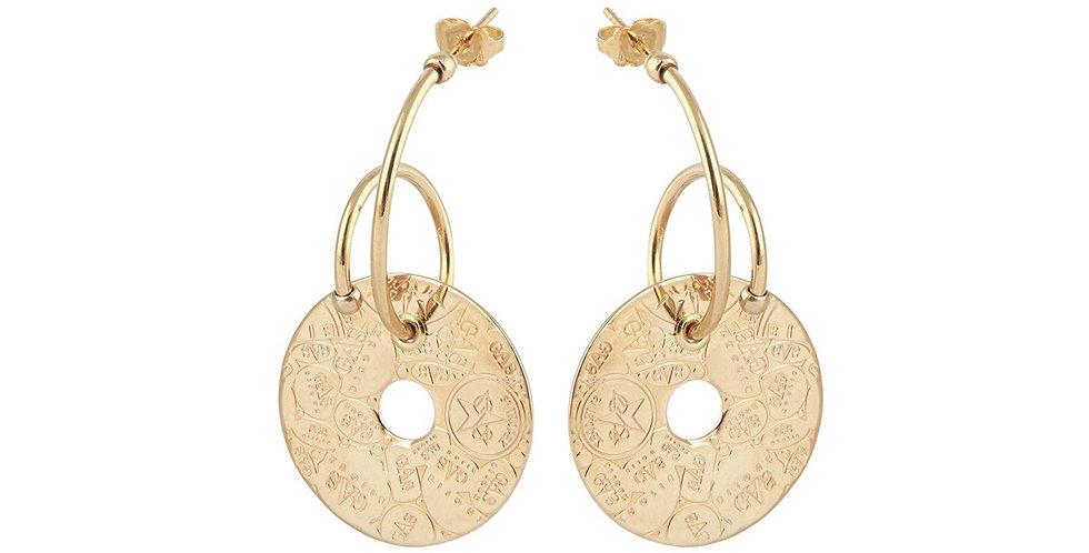 Boucles d'oreilles créoles Céline Eve Bozart or