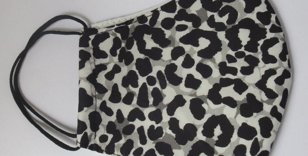 Masque en tissus léopard noir