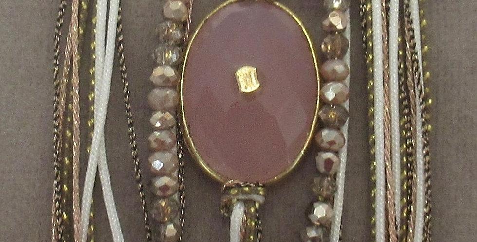 Bracelet Diva quart rose