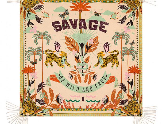 Foulard/ Paréo Savage Beige