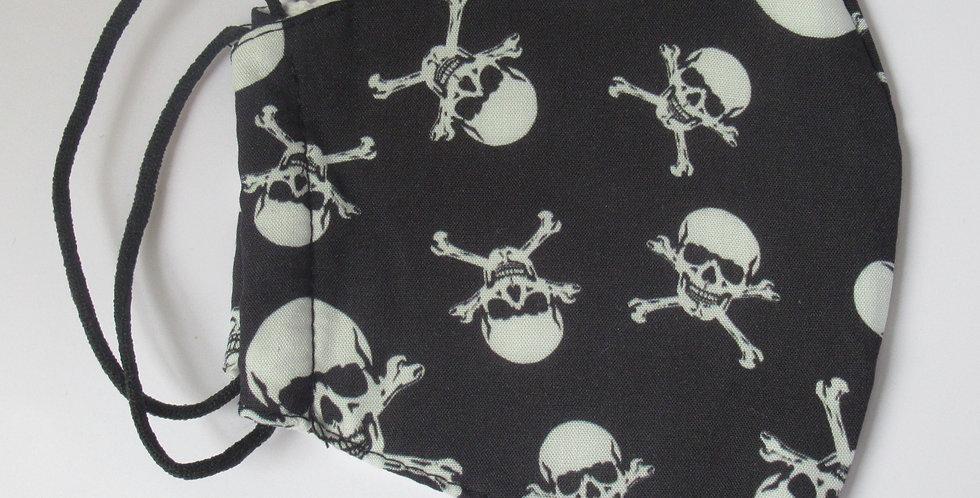 Masque en tissus tête de mort pirate