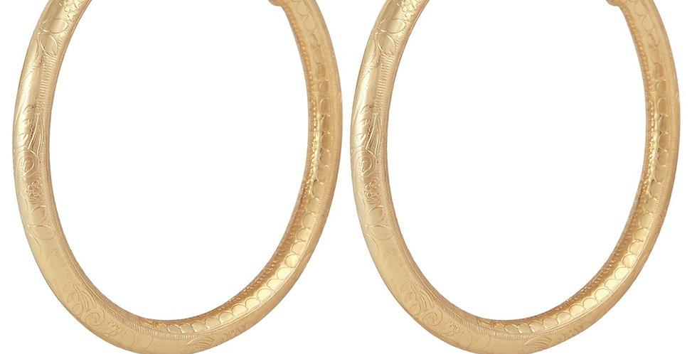 Boucles d'oreilles créoles Maoro grand modèle or