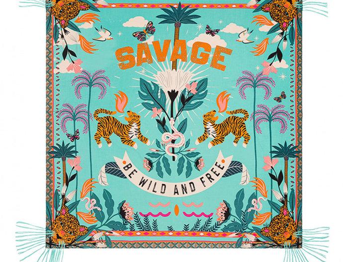 Foulard/ Paréo Savage Turquoise