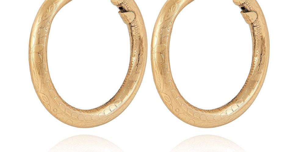 Boucles d'oreilles créoles Maoro petit modèle or