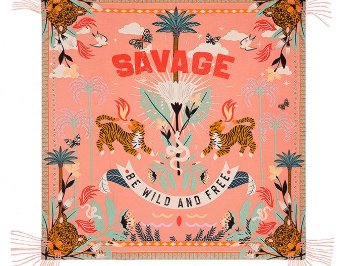 Foulard/ Paréo Savage Pink