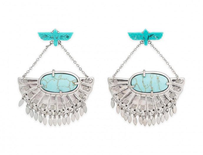 Boucles d'oreilles Fly Turquoise