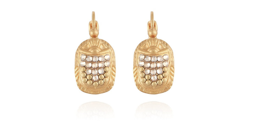 Boucles d'oreilles Scaramouche Strass or