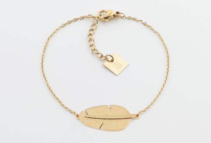Bracelet Zag Amzonia Acier doré